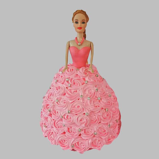 Classy Barbie Cake Pineapple 2kg
