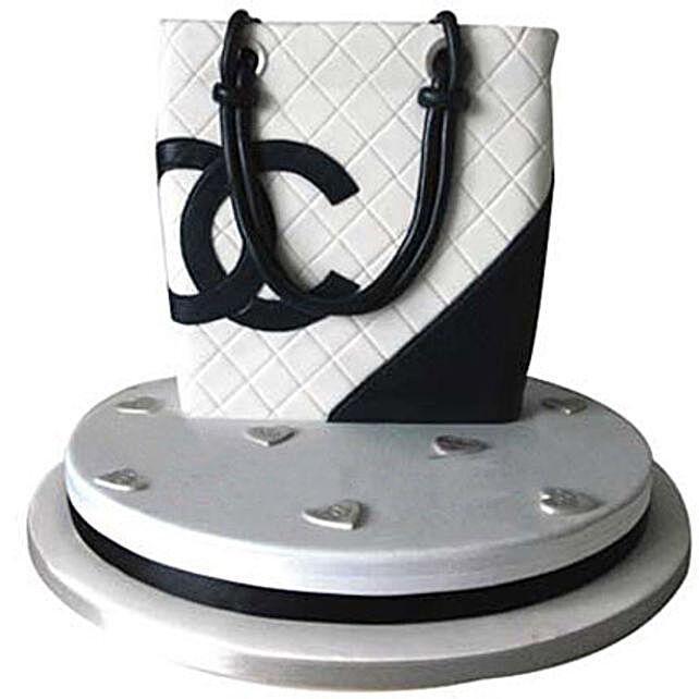 Classy Chanel Bag Cake 5kg Black Forest