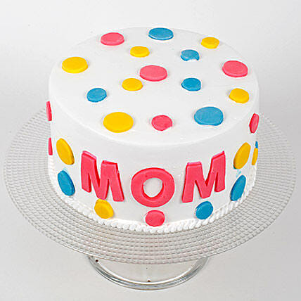 Colourful Mothers Day Vanilla Cake Half kg Eggless