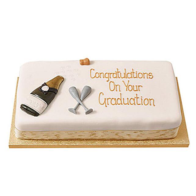 Congratulations Fondant Cake Chocolate 4kg Eggless