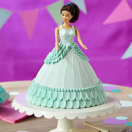 Cool Blue Barbie Cake Butterscotch 2kg