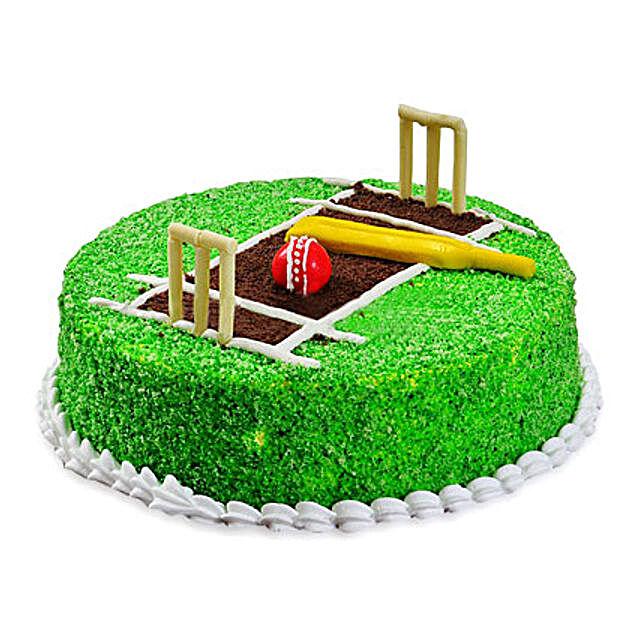 Cricket Pitch Cake 3kg Eggless Chocolate