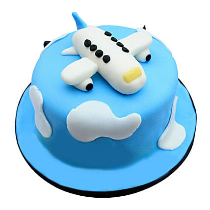 Cute Airplane Cake 4kg Eggless Butterscotch