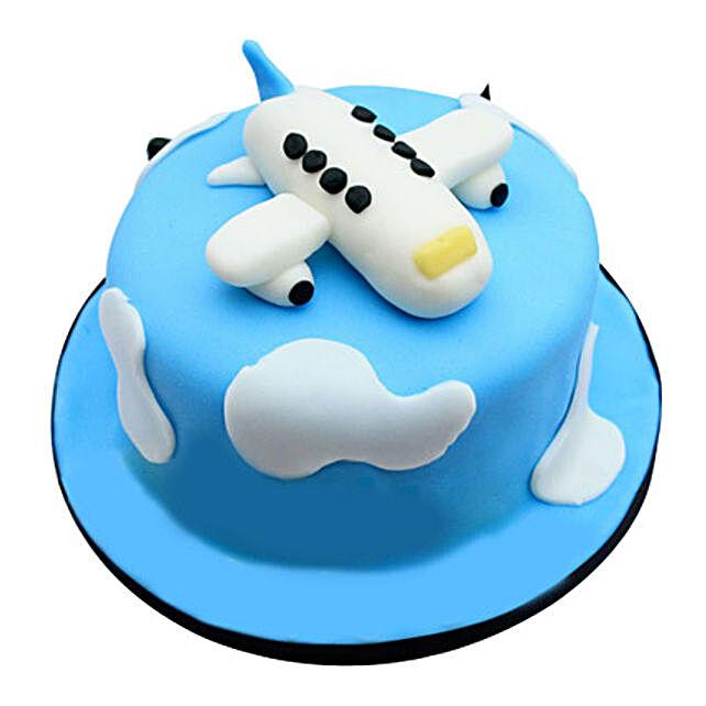 Cute Airplane Cake 5kg Eggless Butterscotch