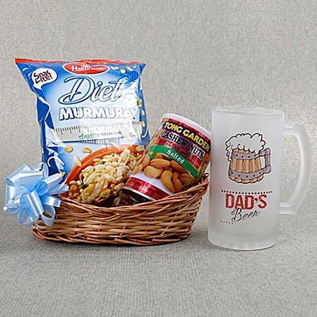 Dads Beer Mug N Chakhna Combo