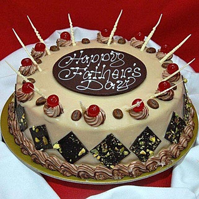 Decorative Fathers Day Cake 1kg Vanilla Eggless