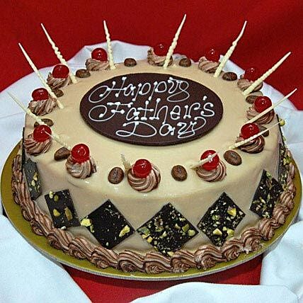 Decorative Fathers Day Cake Half kg Black Forest