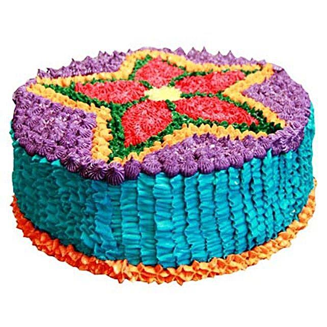 Deepavali Theme Cake 2kg Eggless Chocolate