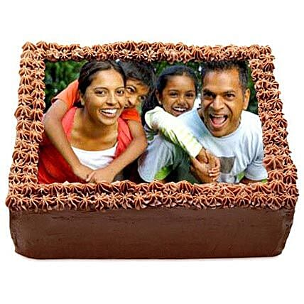Delicious Chocolate Photo Cake 1kg by FNP