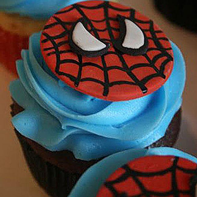 Delicious Spiderman Cupcakes 24