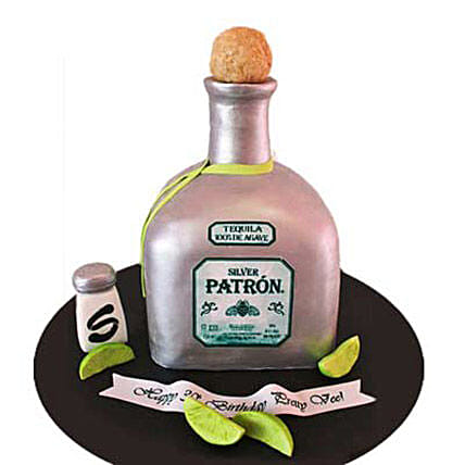 Delightful Silver Patron Cake 2kg by FNP