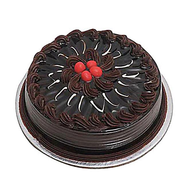 Eggless Chocolate Truffle Cake 1kg by FNP