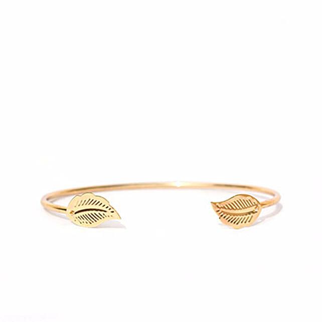 Elegant Gold Leaf Bracelet