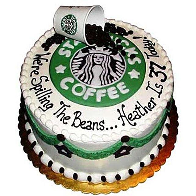 Excess Starbucks Cake 2Kg Eggless Pineapple