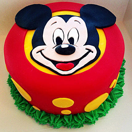Fabulous Mickey Mouse Cake 3kg Butterscotch Eggless