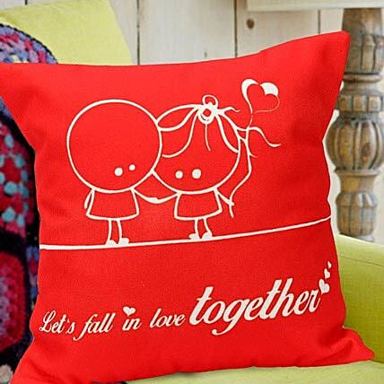 Fall In Love Red Cushion By FNP