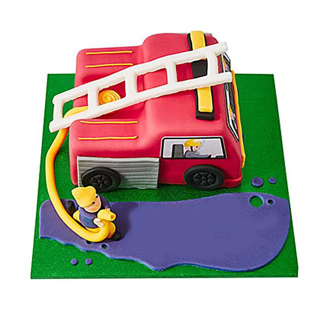 Fire Engine Fondant Cake Truffle 3kg Eggless
