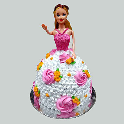 Floral Barbie Cake Pineapple 2kg