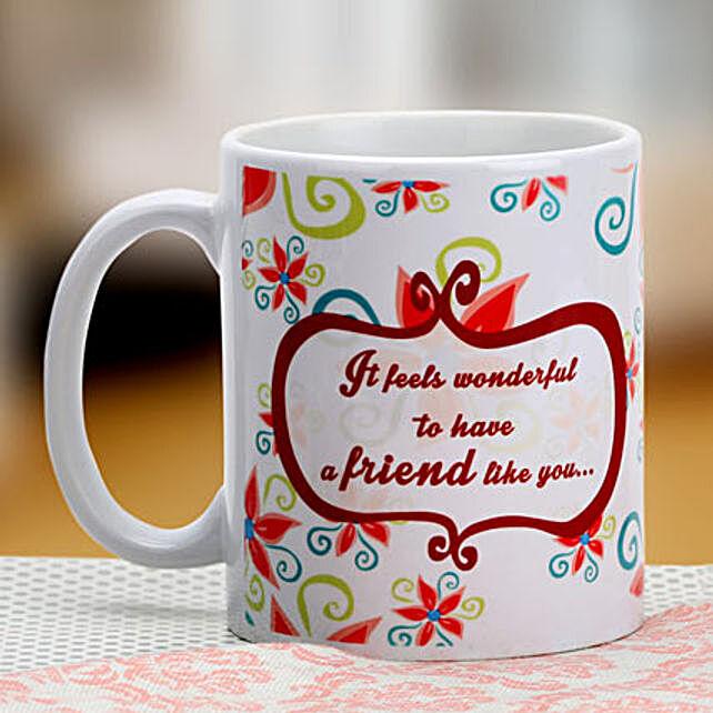 Floral mug for friend