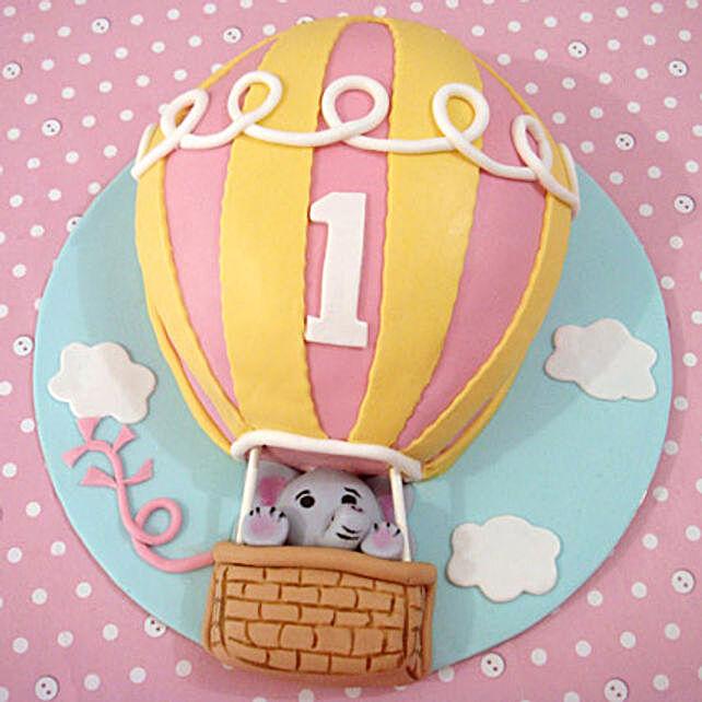 Flying Balloon Elephant Cake 4kg Eggless Pineapple