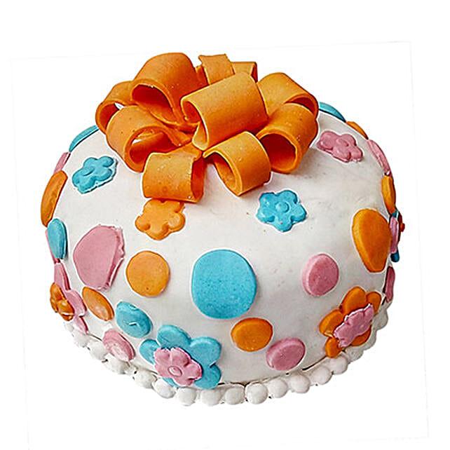 Fondant Baby Bash Cake Half Kg Vanilla