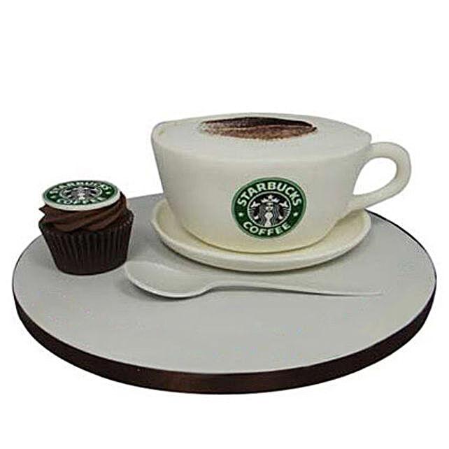 Forever Starbucks Cake 4kg Truffle Eggless