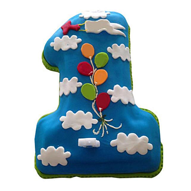 Fun Loving Fondant Cake 3kg Eggless Black Forest