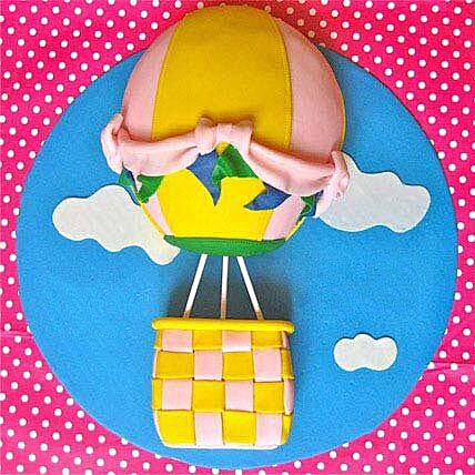 Funky Fondant Balloon Cake 3kg Butterscotch