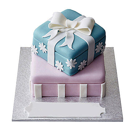 Gift Box Fondant Cake Chocolate 3kg