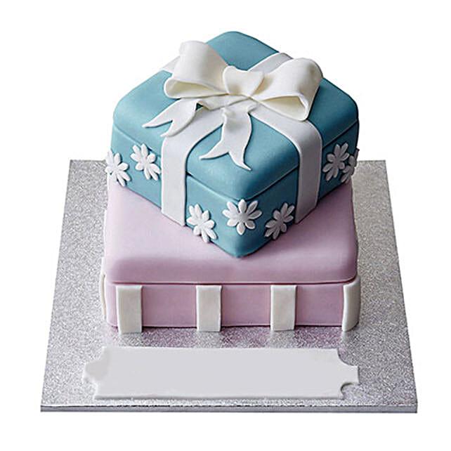 Gift Box Fondant Cake Truffle 5kg Eggless