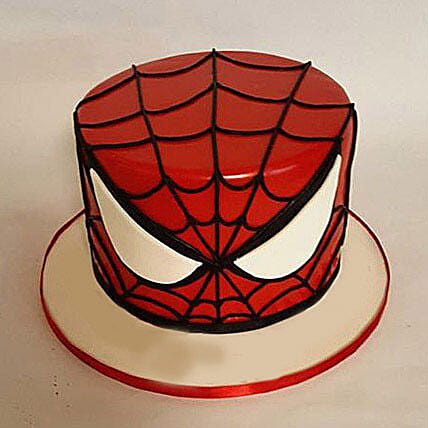Glorious Spiderman Cake 3kg Black Forest