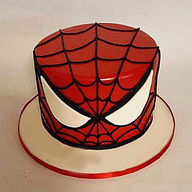 Glorious Spiderman Cake 3kg Eggless Chocolate