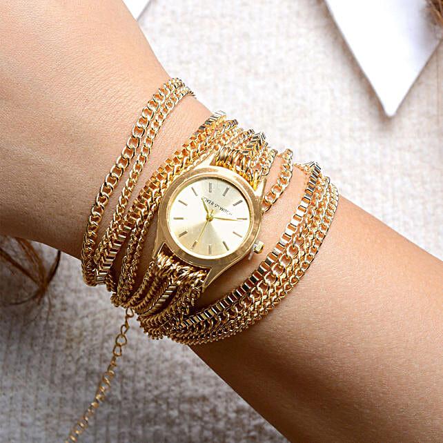 Gold Bracelet Watch for Women