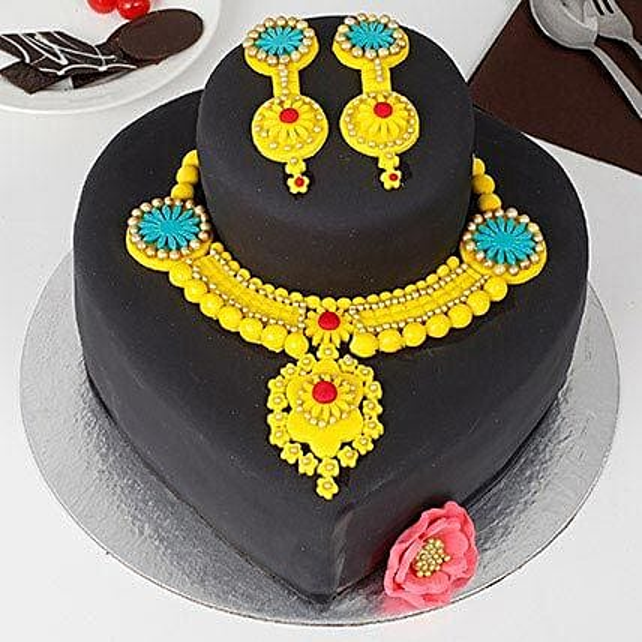 Gold Jewelry Chocolate Cake 3kg eggless