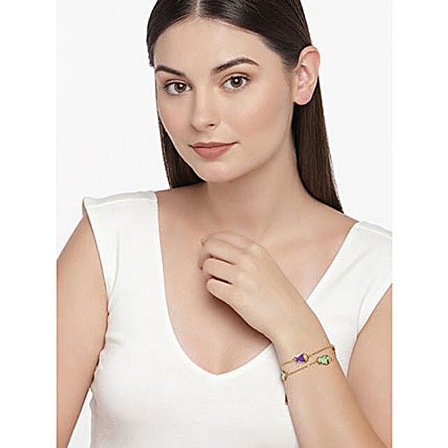Golden Fish Charm Bracelet