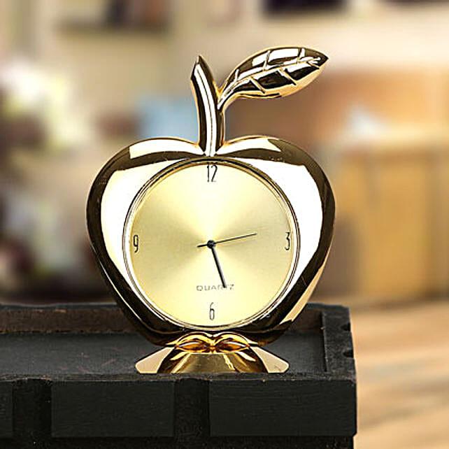 Golden apple clock