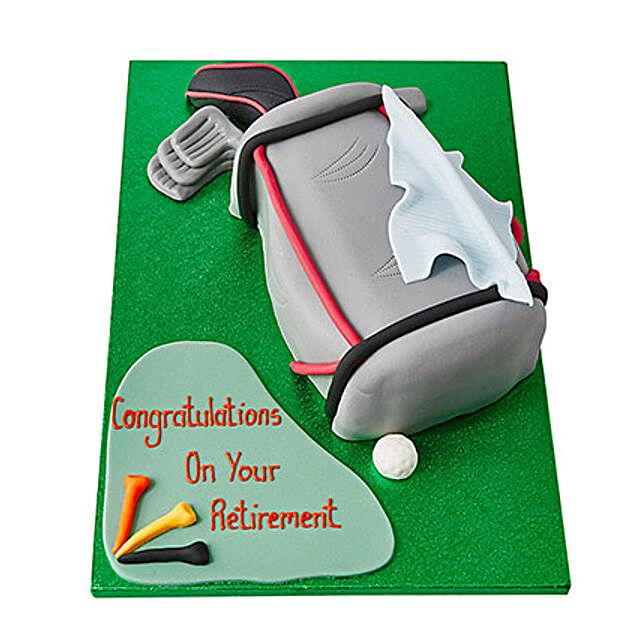 Golf Bag Fondant Cake Butterscotch 4kg Eggless