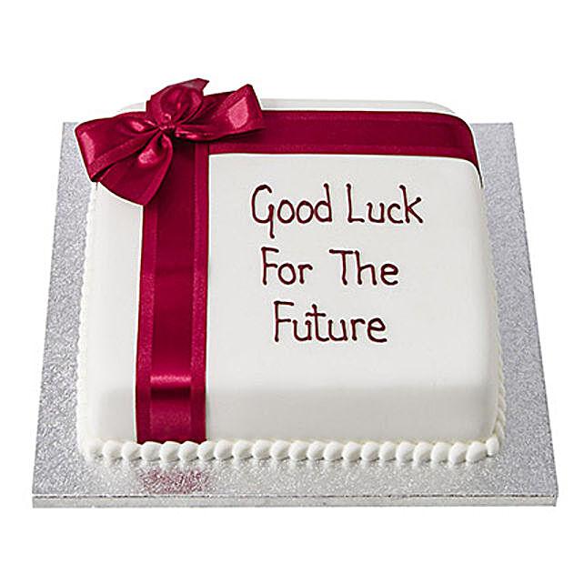 Good Luck Fondant Cake Black Forest 2kg Eggless