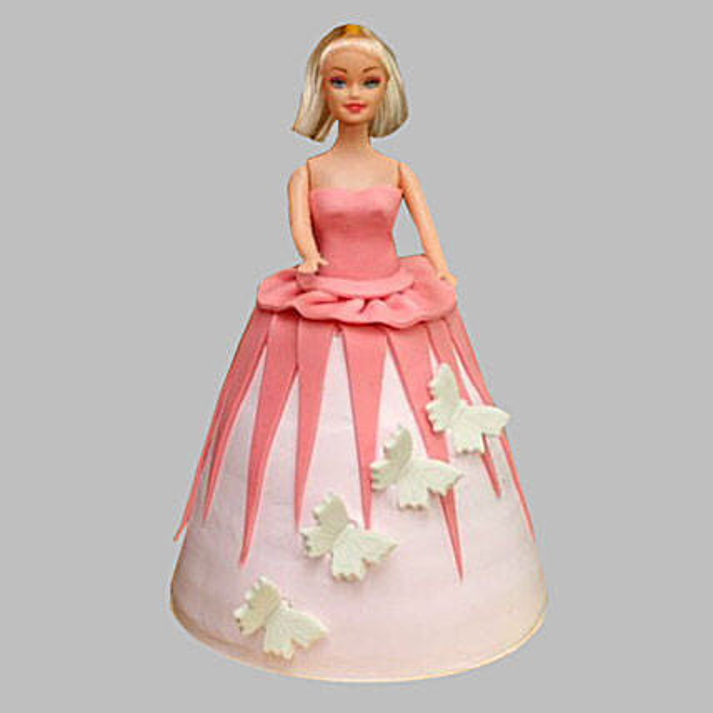 Gorgeous Barbie Cake 3Kg Eggless Pineapple