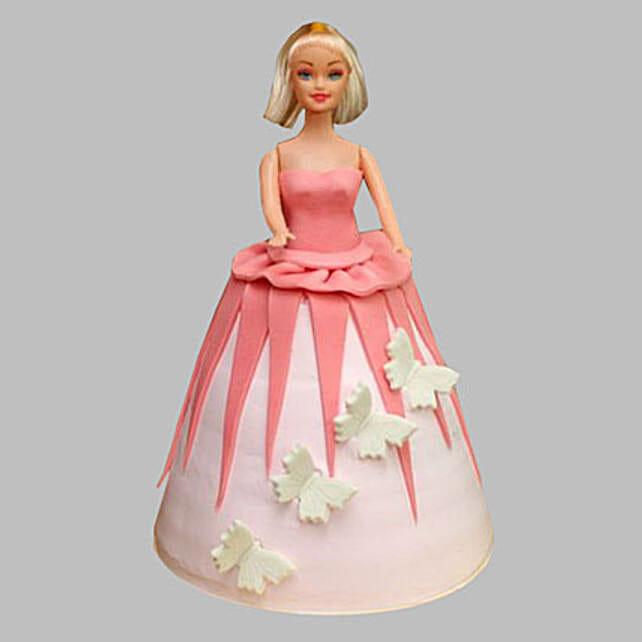 Gorgeous Barbie Cake 3Kg Eggless Vanilla