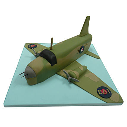 Green Airplane Cake 4kg Vanilla
