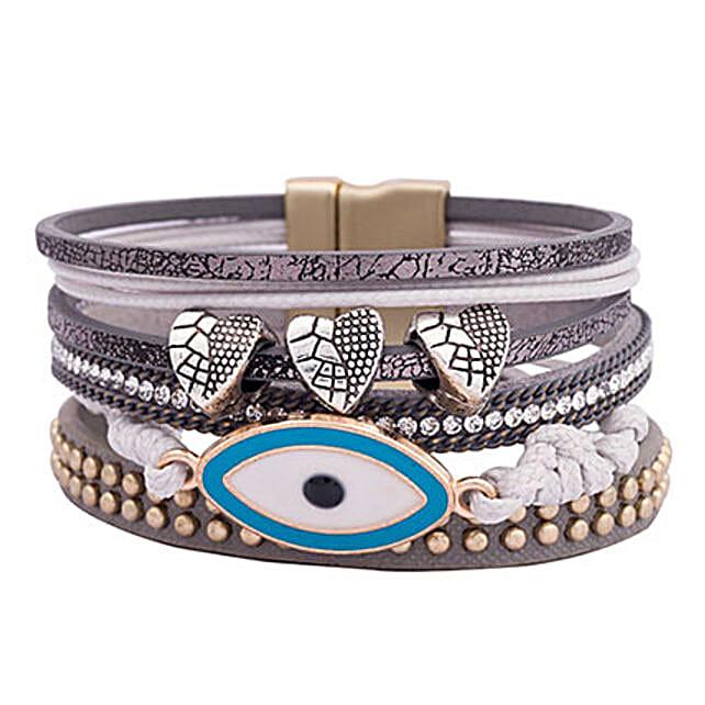 Grey Multistrand Unisex Bracelet