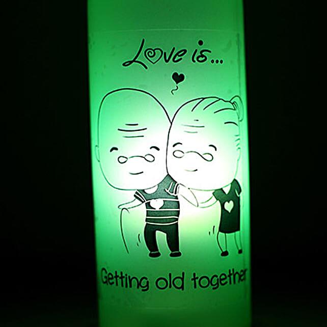 Growing Old Together Lamp-1 growing old together green coloured lamp