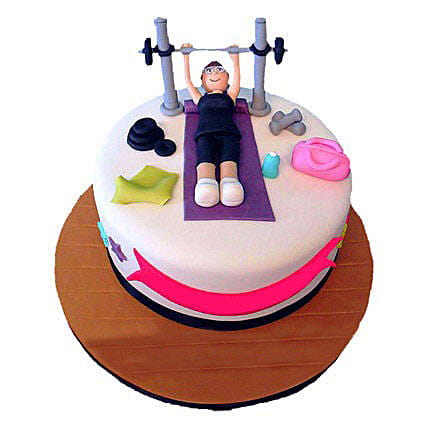 Gym Cake 3kg Eggless Butterscotch