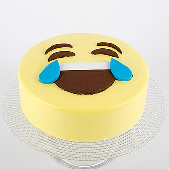 HaHa Emoji Semi Fondant Butterscotch Cake 1kg