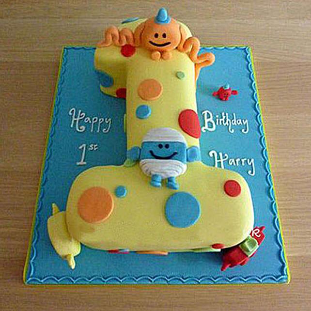 Happy Birthday Toddler Cake 3Kg Pineapple