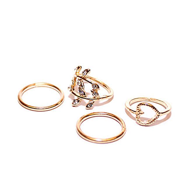 Heart Midi Ring Set