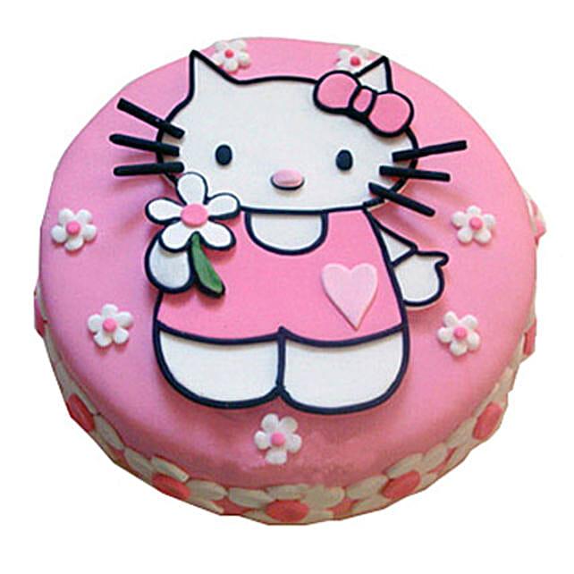 Hello Kitty Birthday Cake 2kg Butterscotch Eggless