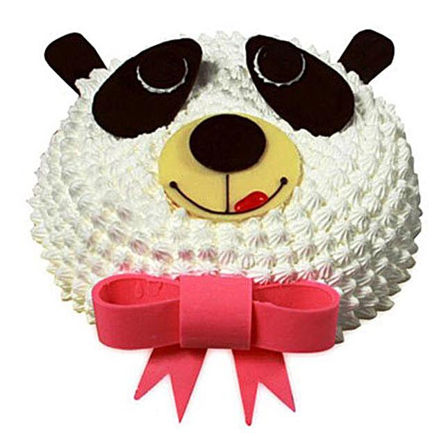 In Love With Panda Cake 1kg Eggless Vanilla