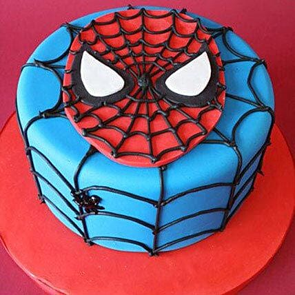 Just For You Spiderman Cake 1Kg Eggless Black Forest